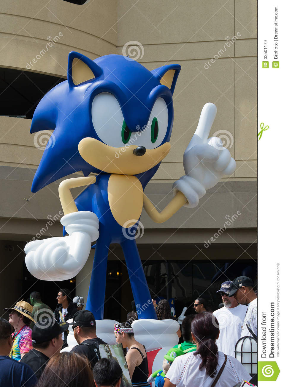 Sega Sonic The Hedgehog At The Comic Con Editorial Stock