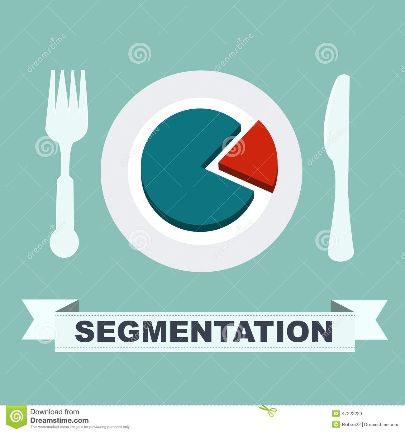 Segmentation Concept Chart On A Plate One Segment Is
