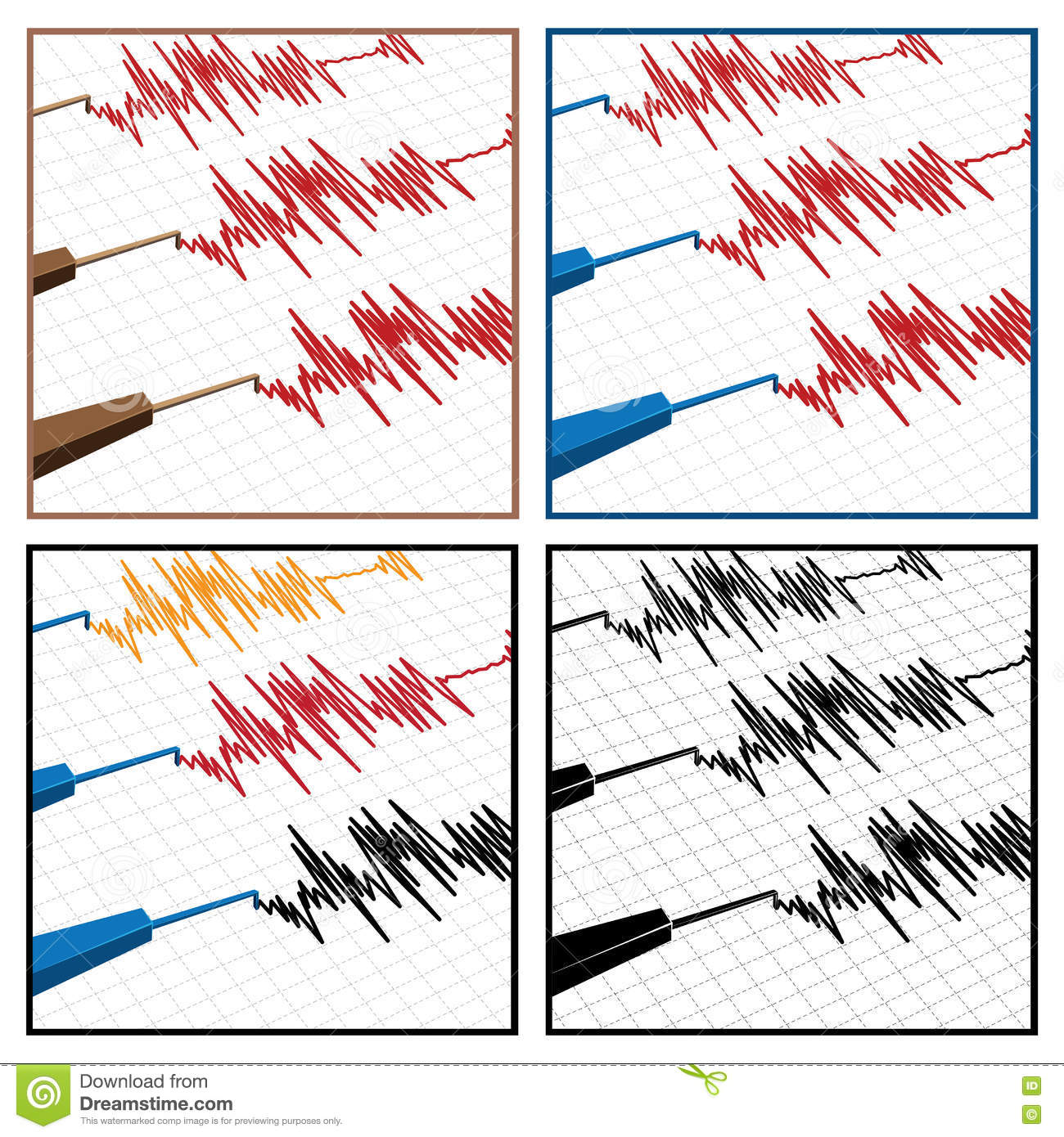 Seismograph Stock Vector Illustration Of Science