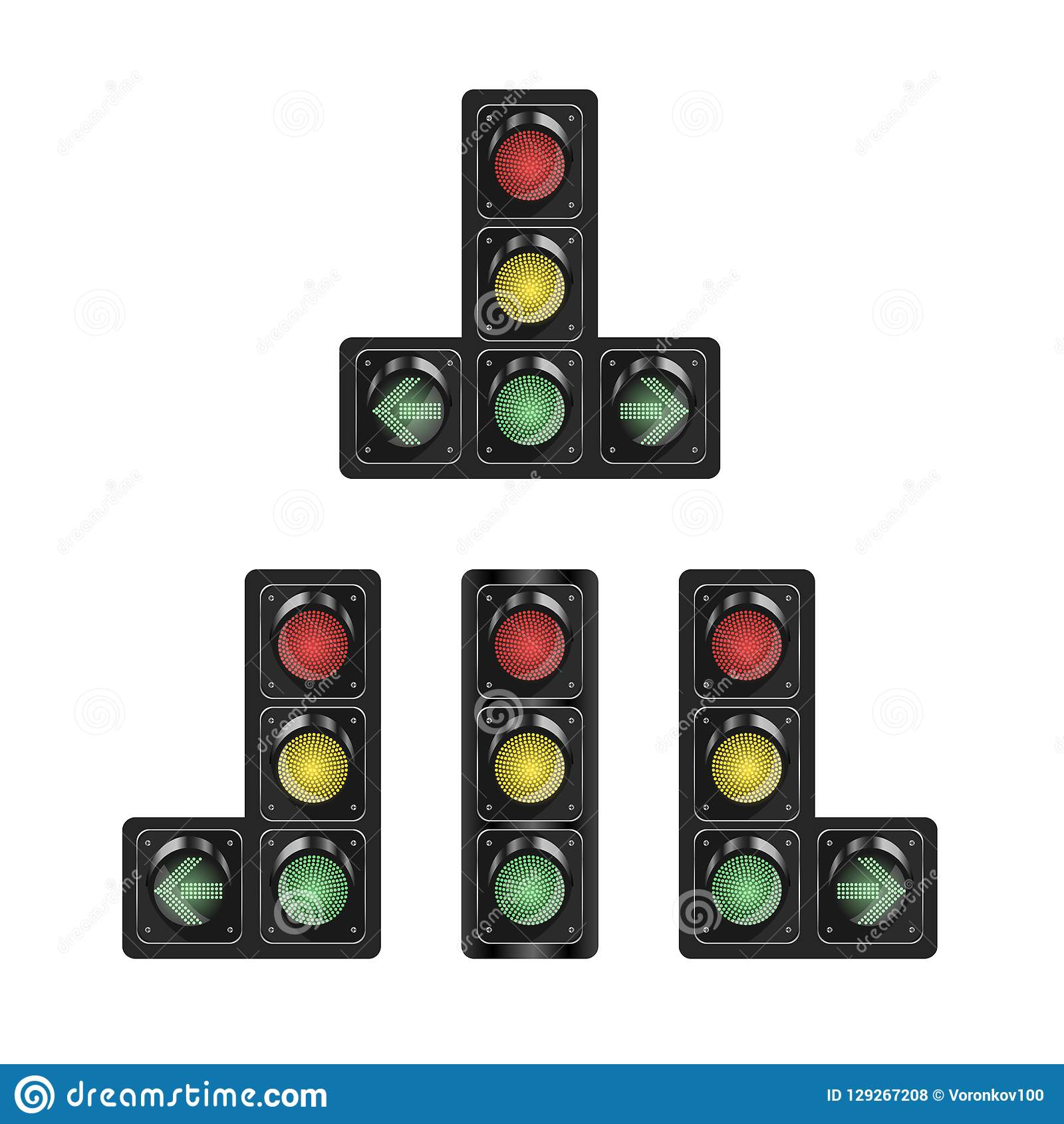 Selection Of Traffic Lights With Additional Section On