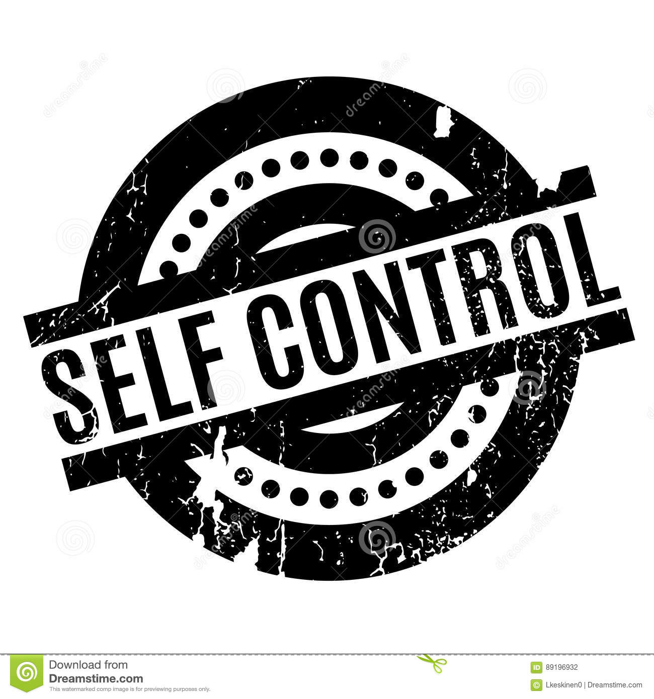 Self Control Rubber Stamp Stock Vector Illustration Of