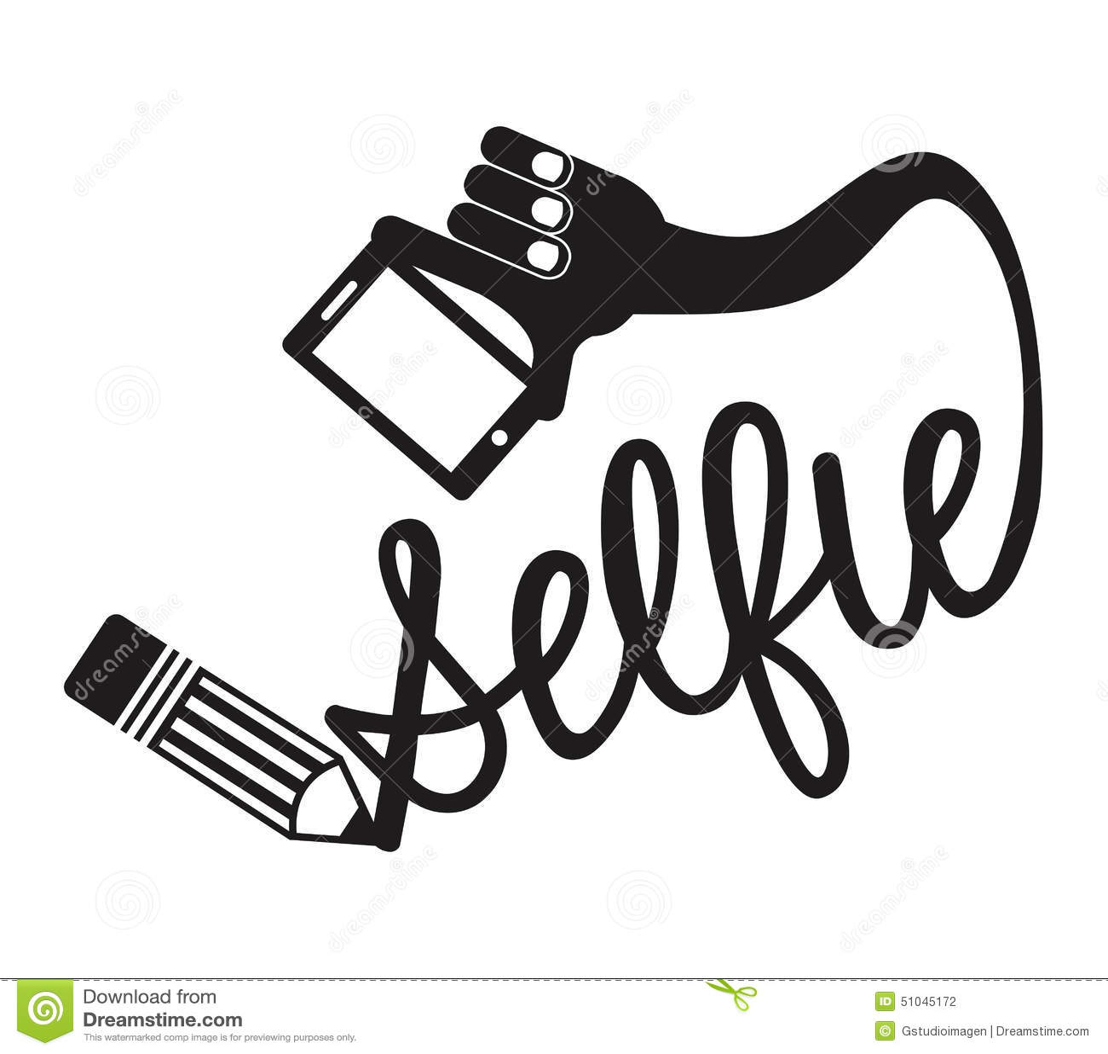Selfie Graphic Stock Vector Illustration Of Eps10 Poster