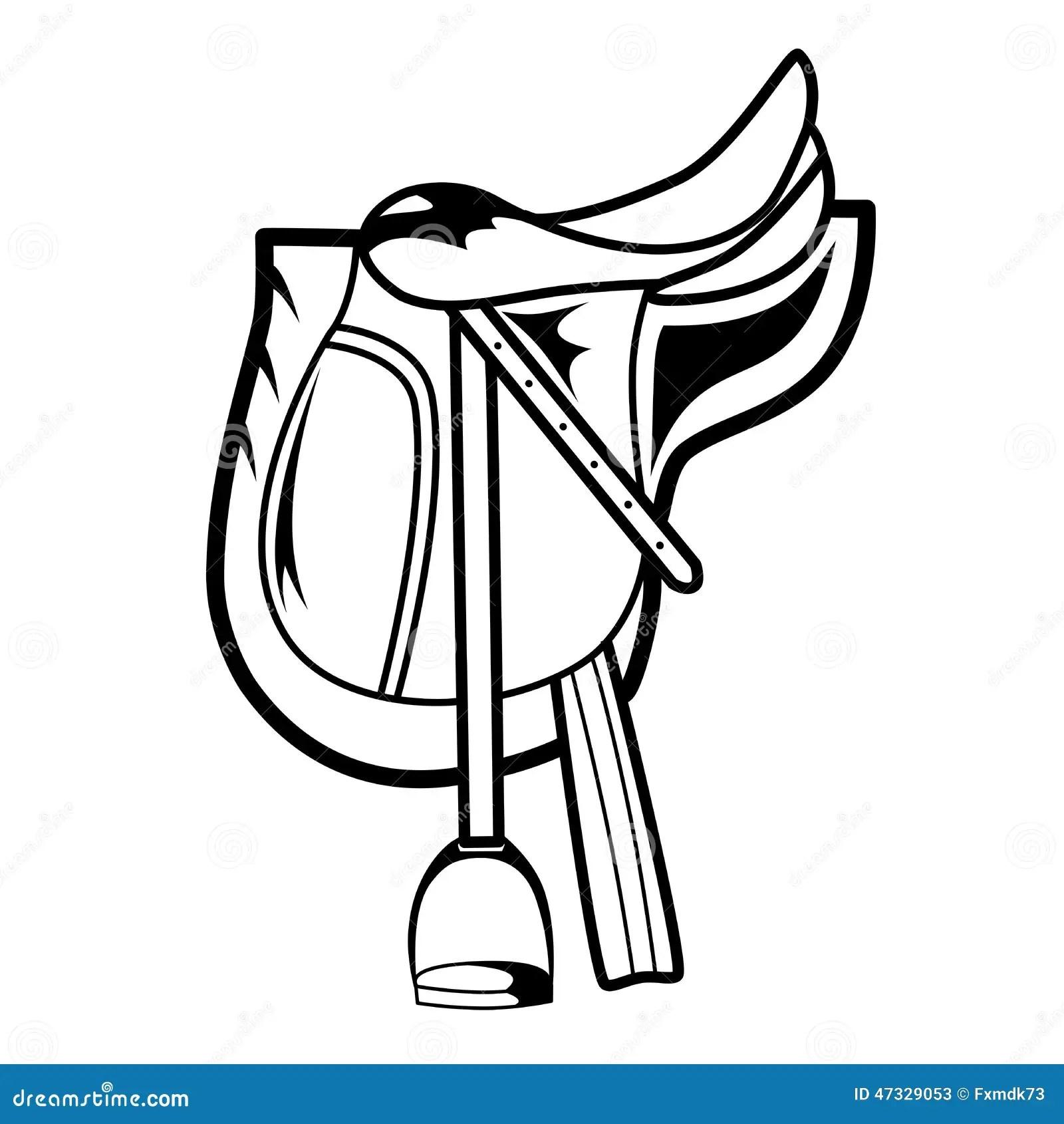 Selle De Cheval Illustration De Vecteur Image Du Dressage