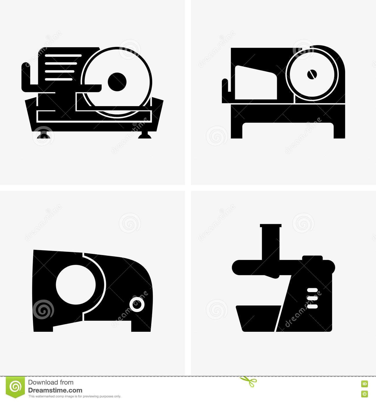 Semi Automatic Meat Slicer Stock Vector Illustration Of