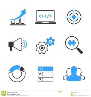 SEO simple vector icon set stock vector Illustration of