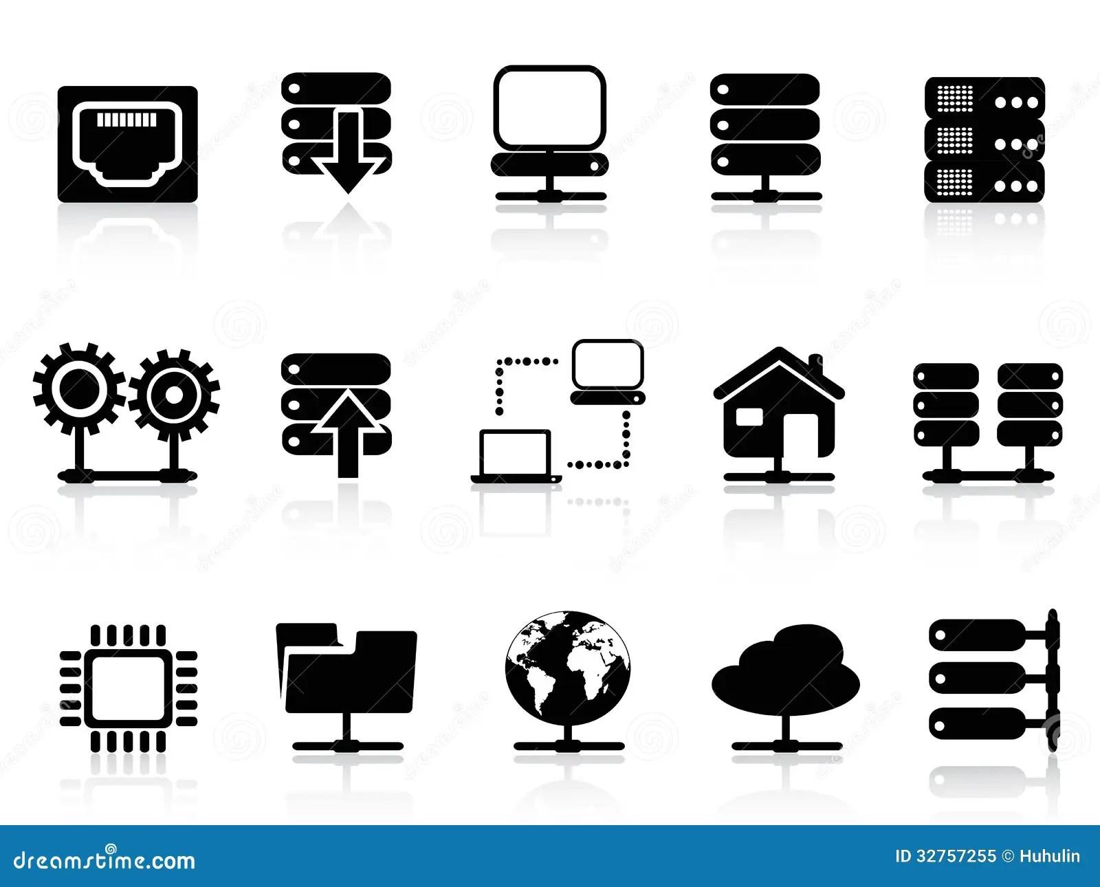 Server And Database Icon Royalty Free Stock Photo