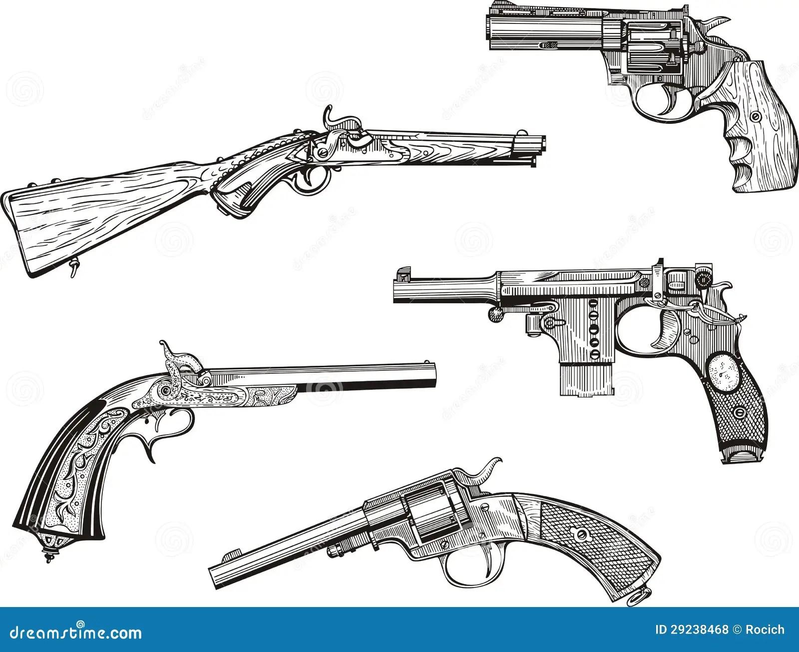 Set Pistolen Stock Illustrationen Vektors Amp Klipart