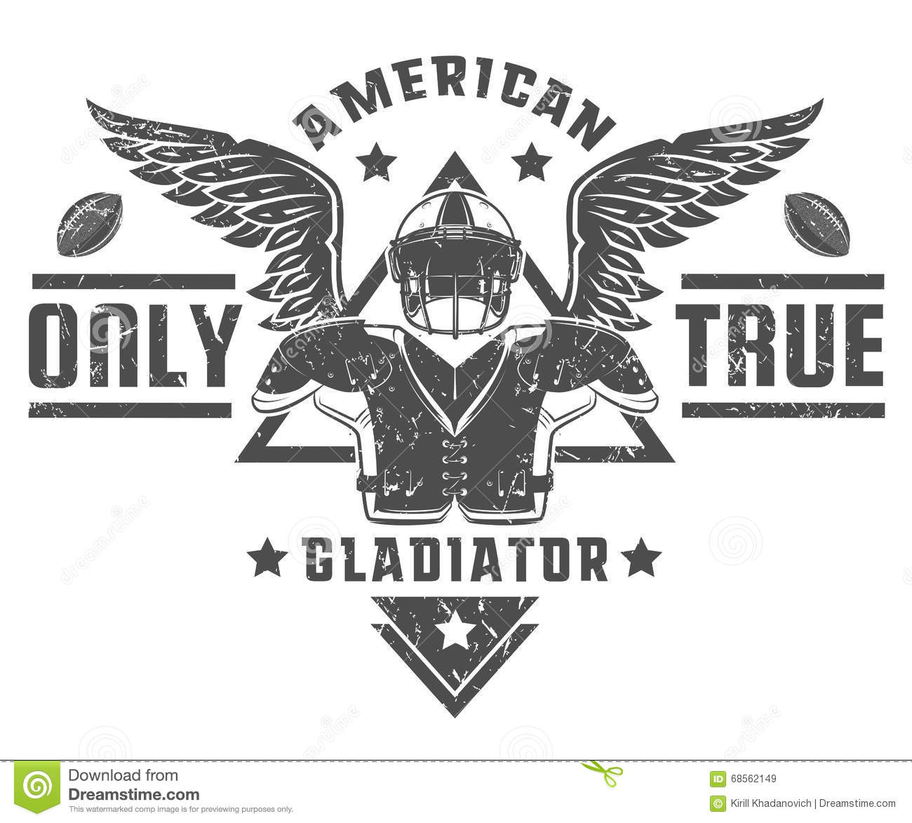 Set Of American Football Emblems And Logo Stock Vector