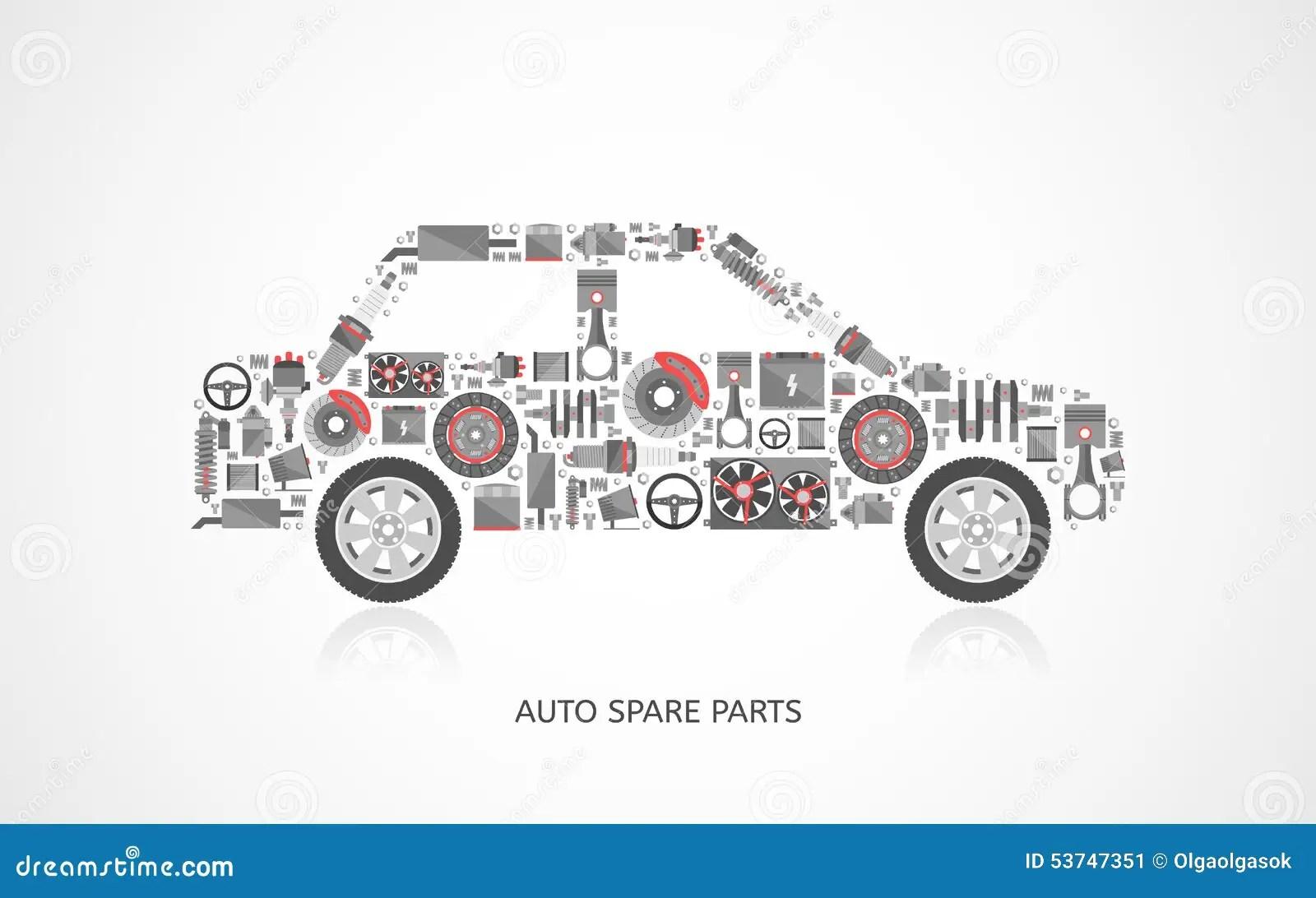 Auto Set Vector Illustration