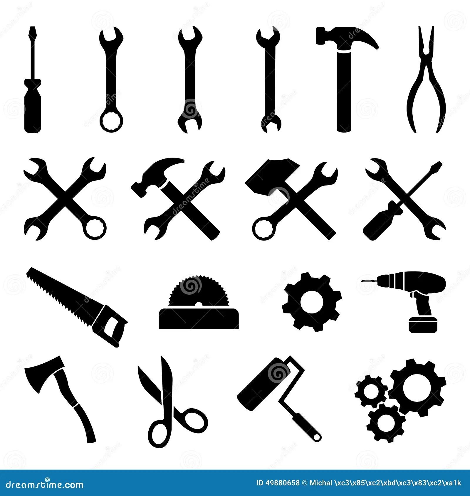 Work Tools Icons Set Stock Image