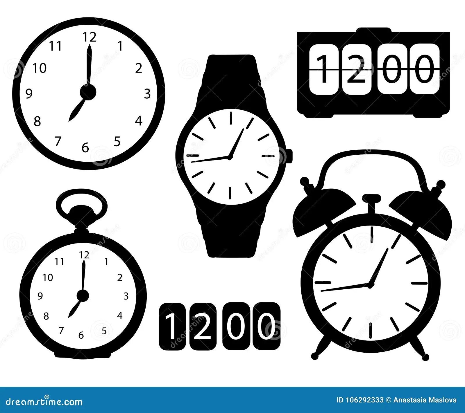 Wall Clocks Set 3 4 Royalty Free Stock Photography