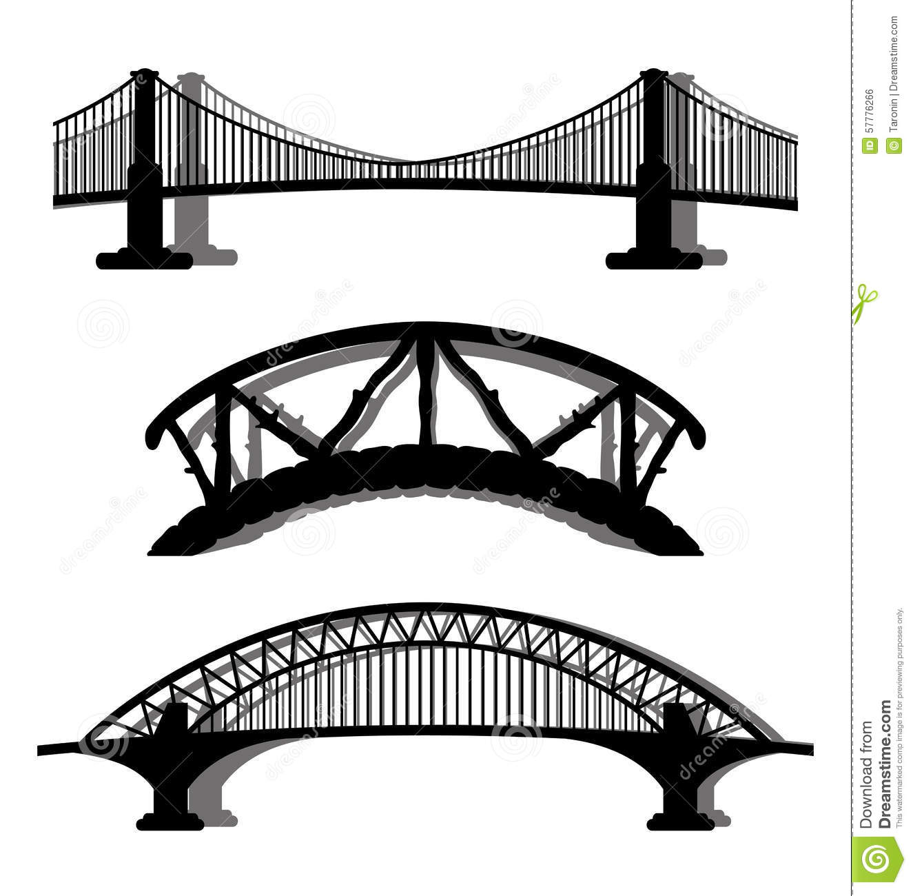 Set Of Bridges Stock Vector Illustration Of Sign Vector