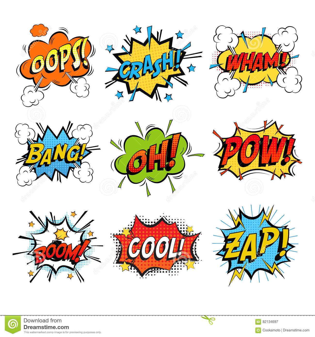 Set Of Bubble Or Bubbles Speech Stock Vector