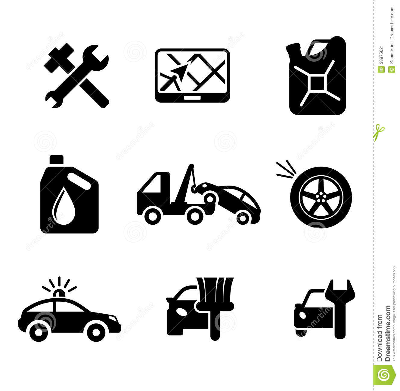 Set Of Car Service And Automobile Stock Vector