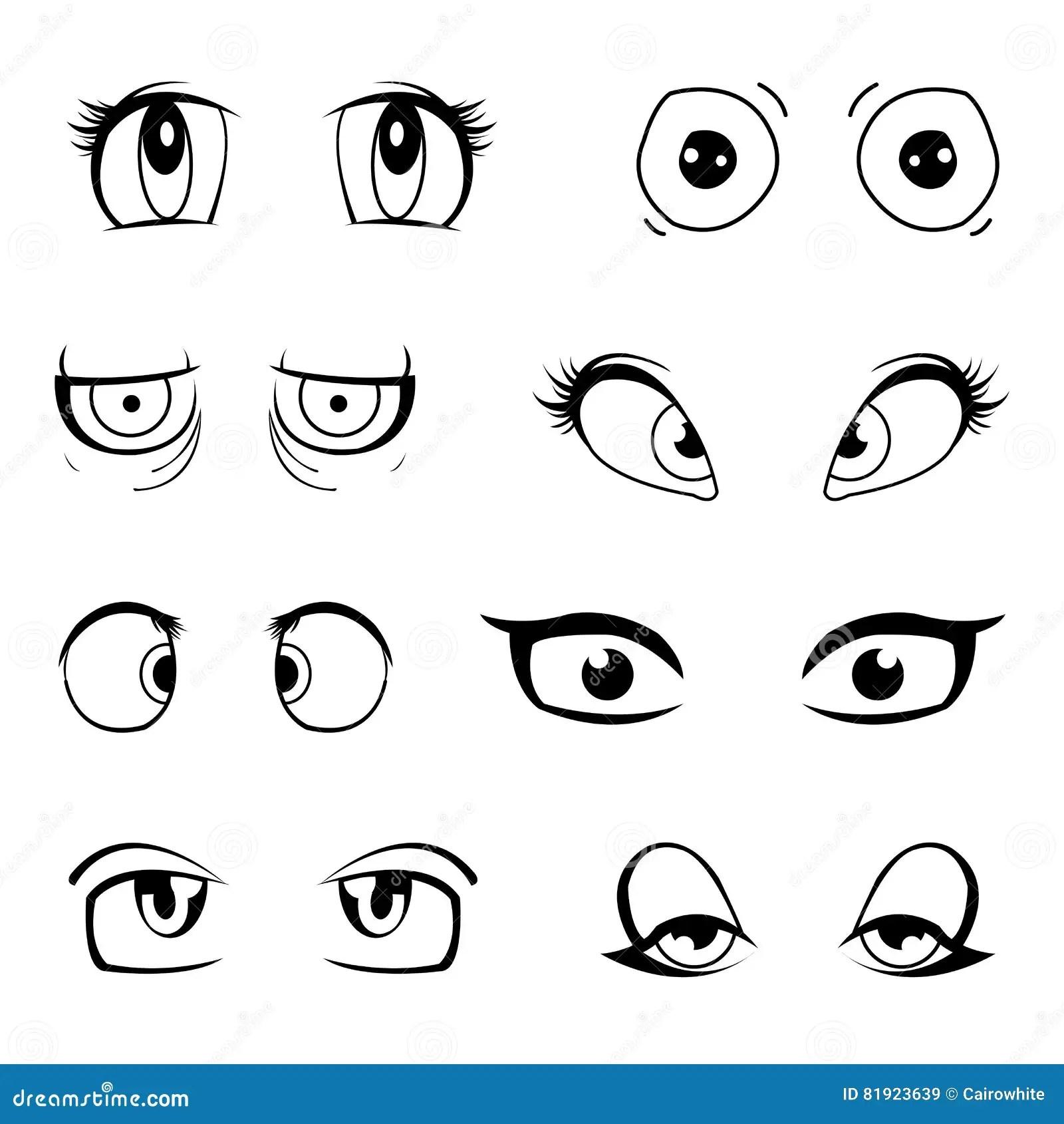 Set Of Cartoon Eyes Stock Illustration Illustration Of