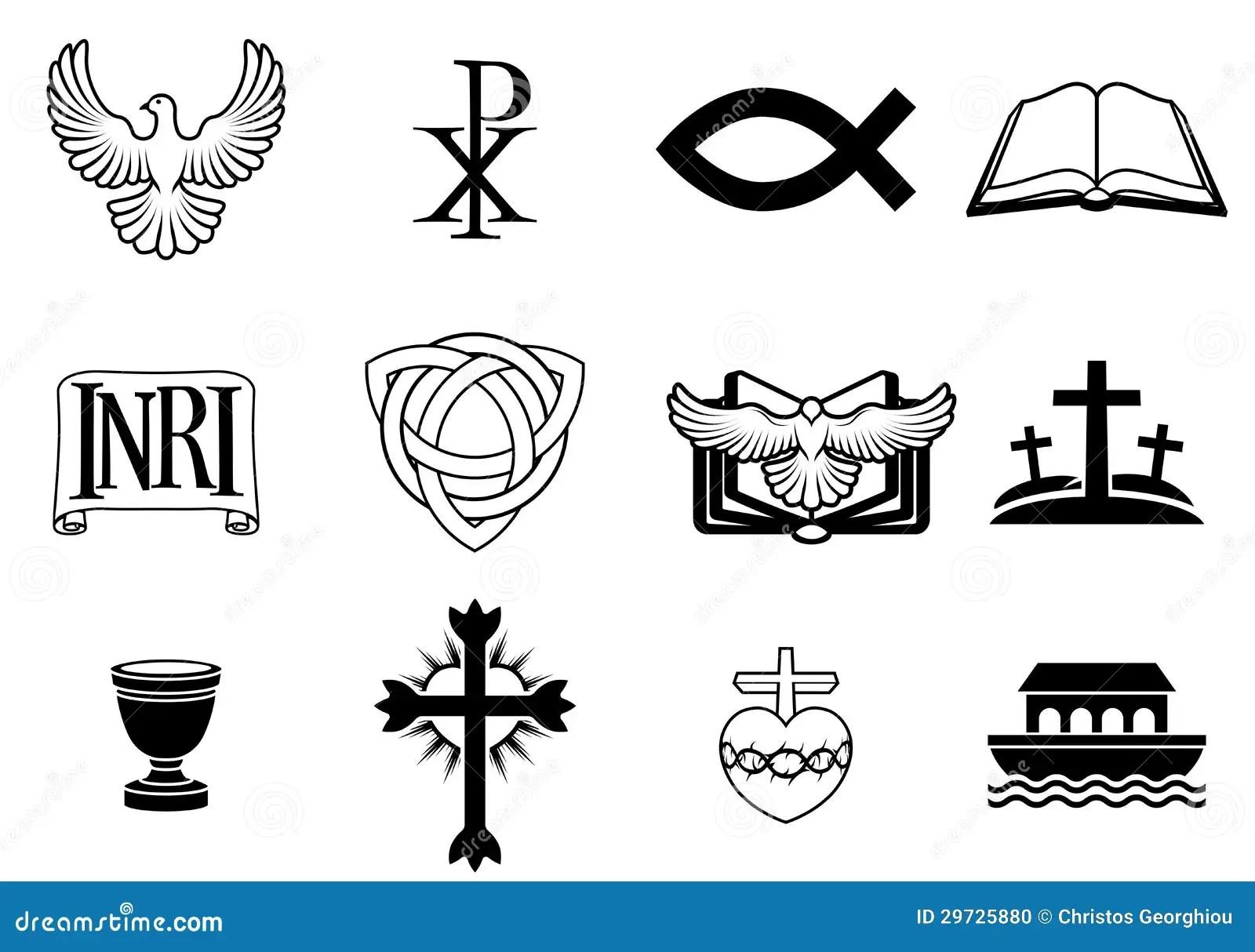 Christian Icon Set Stock Photo