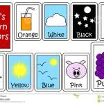 Set Of Color Flashcards Stock Vector Illustration Of Juice 15858939