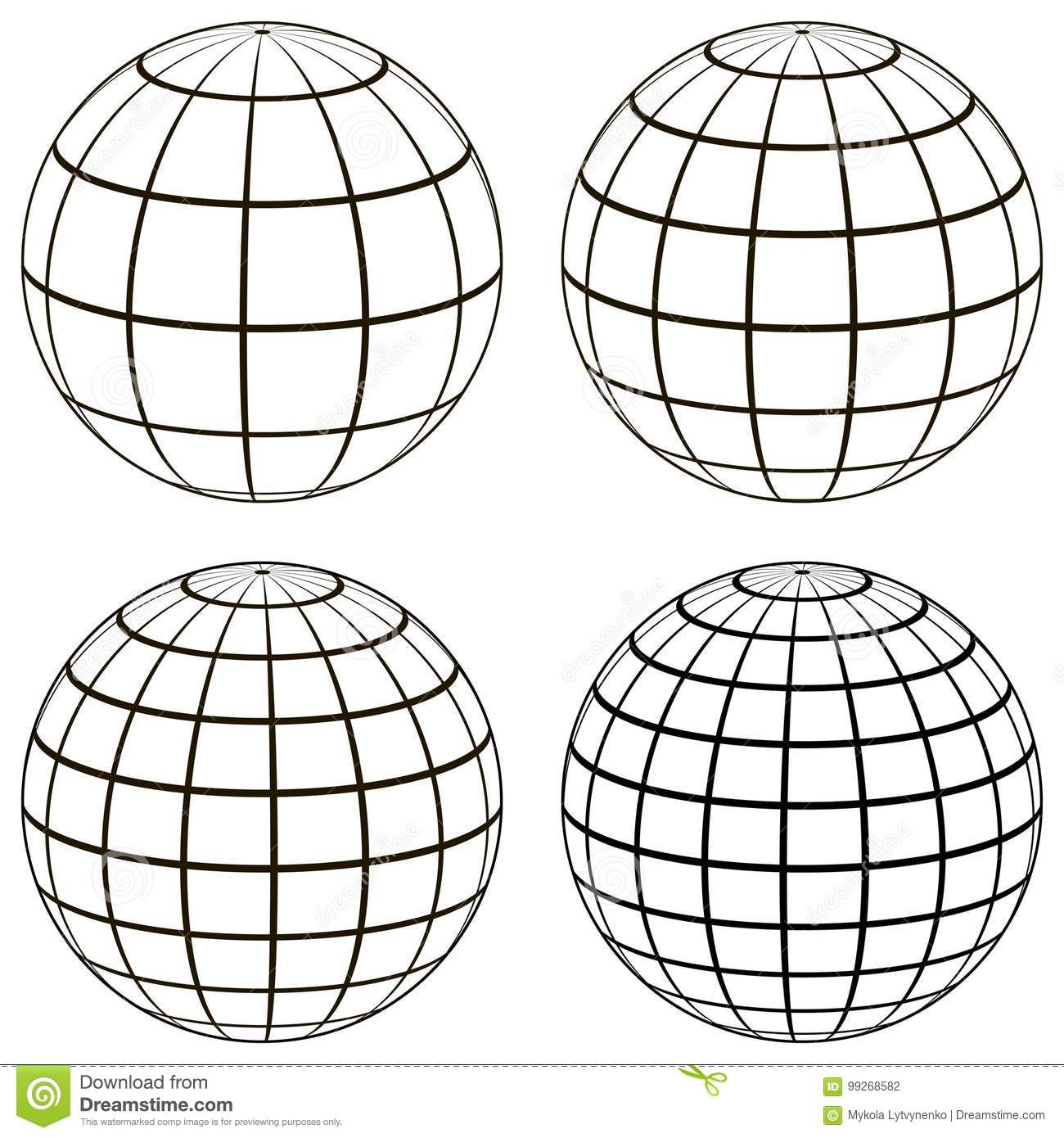 Set 3d Ball Globe Model Of The Earth Sphere With A