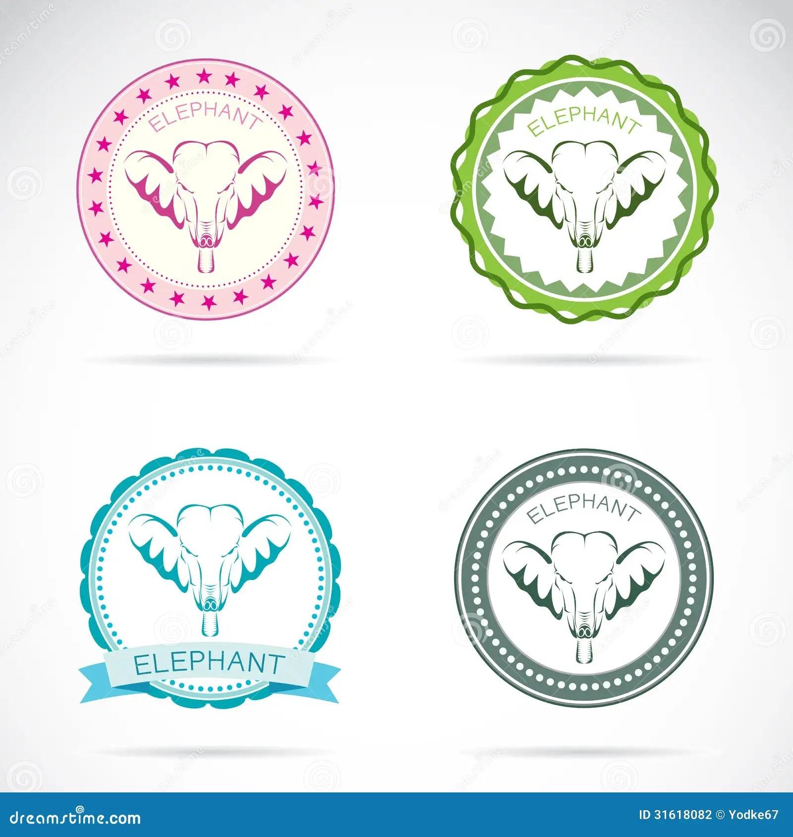 Set Of Elephant Label Stock Vector Illustration Of Badge