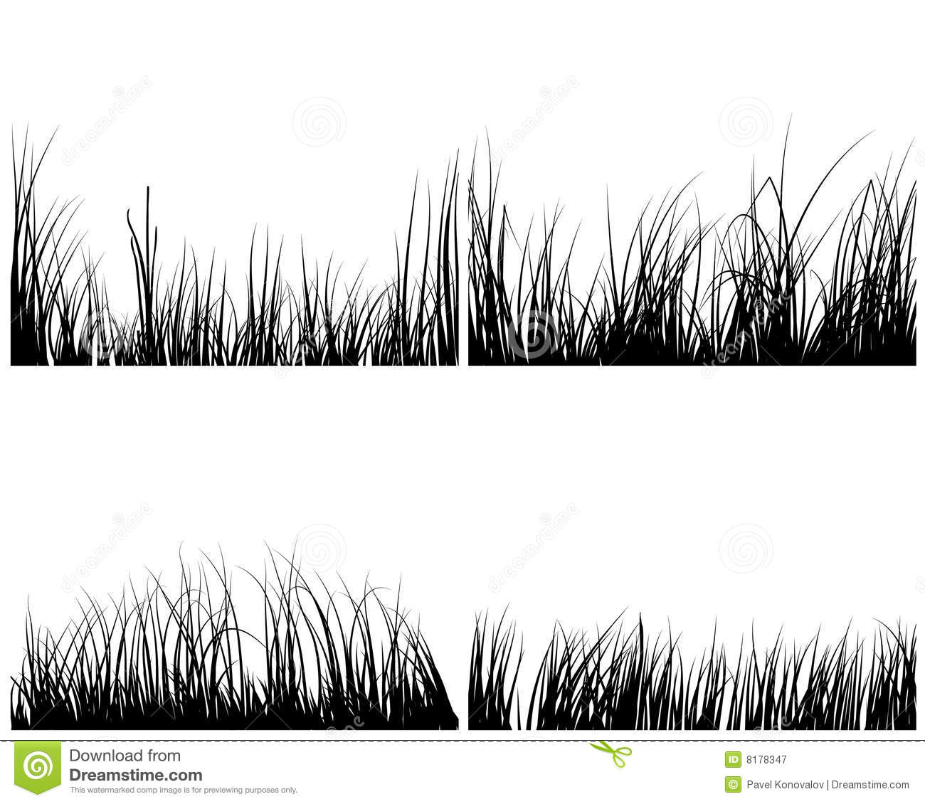 Set Of Grasses Royalty Free Stock Photography