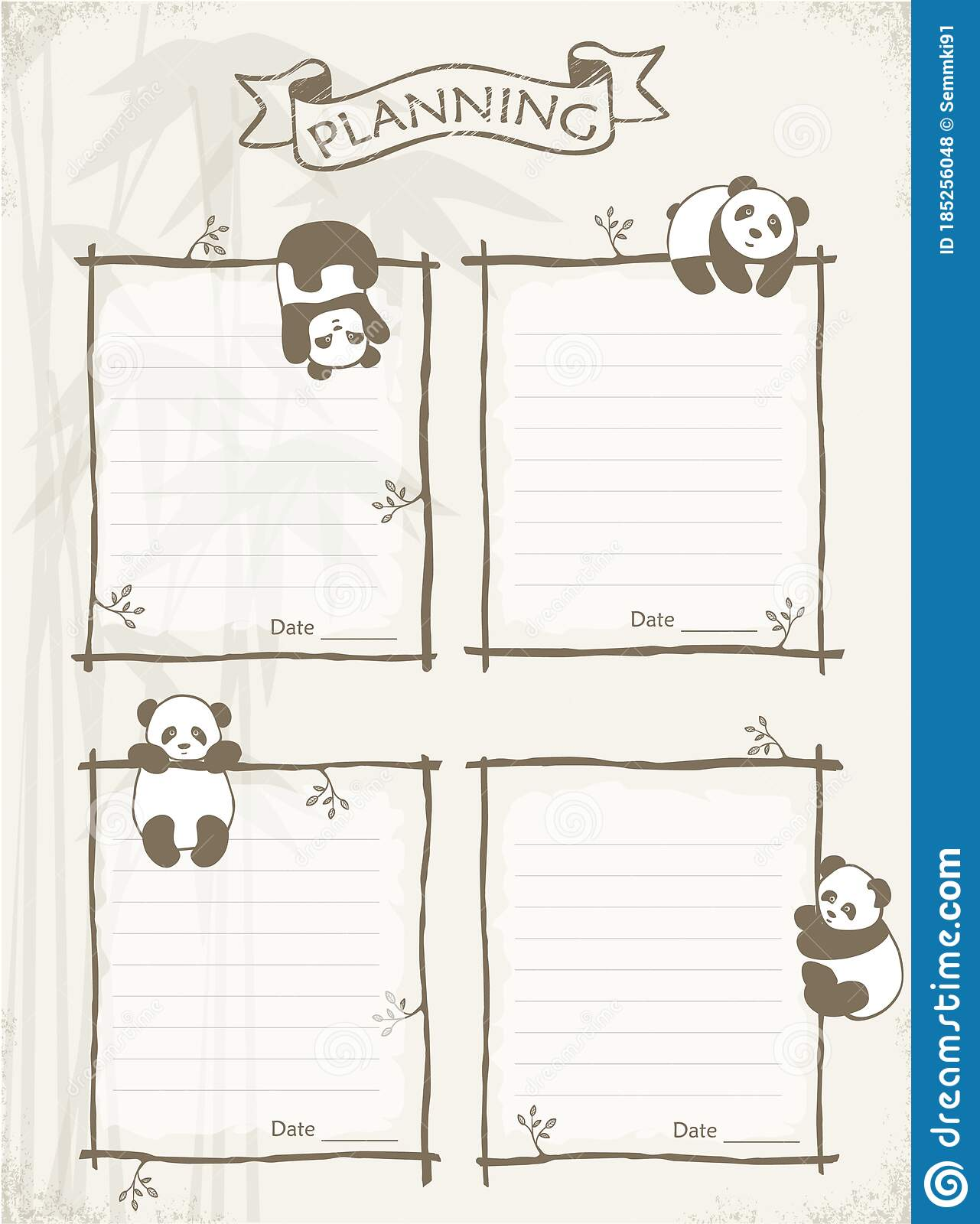 You will find lots of inspirational free scrapbook printables here for both children and adults. Set Of Little Cute Panda Vector Cards Planer Printable Templates Notes Stickers Labels Scrapbooking Congratulations Stock Illustration Illustration Of Page List 185256048