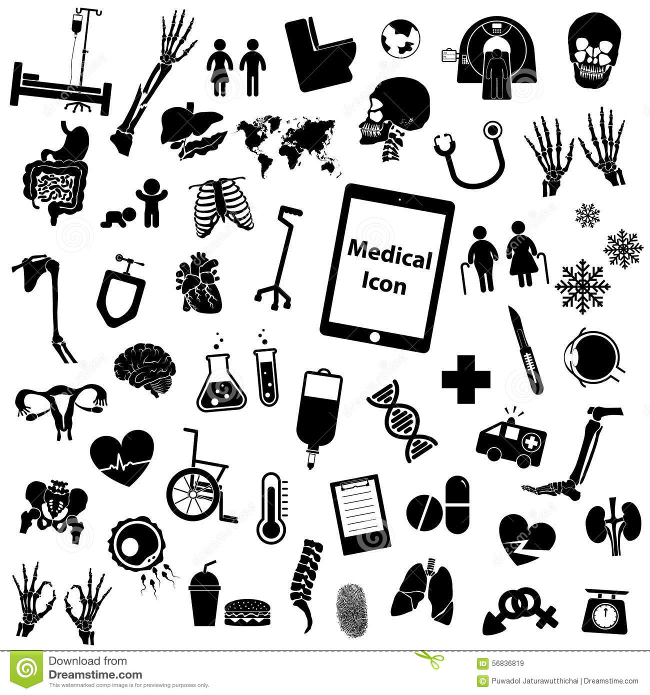 Medical Icon Set Cartoon Vector