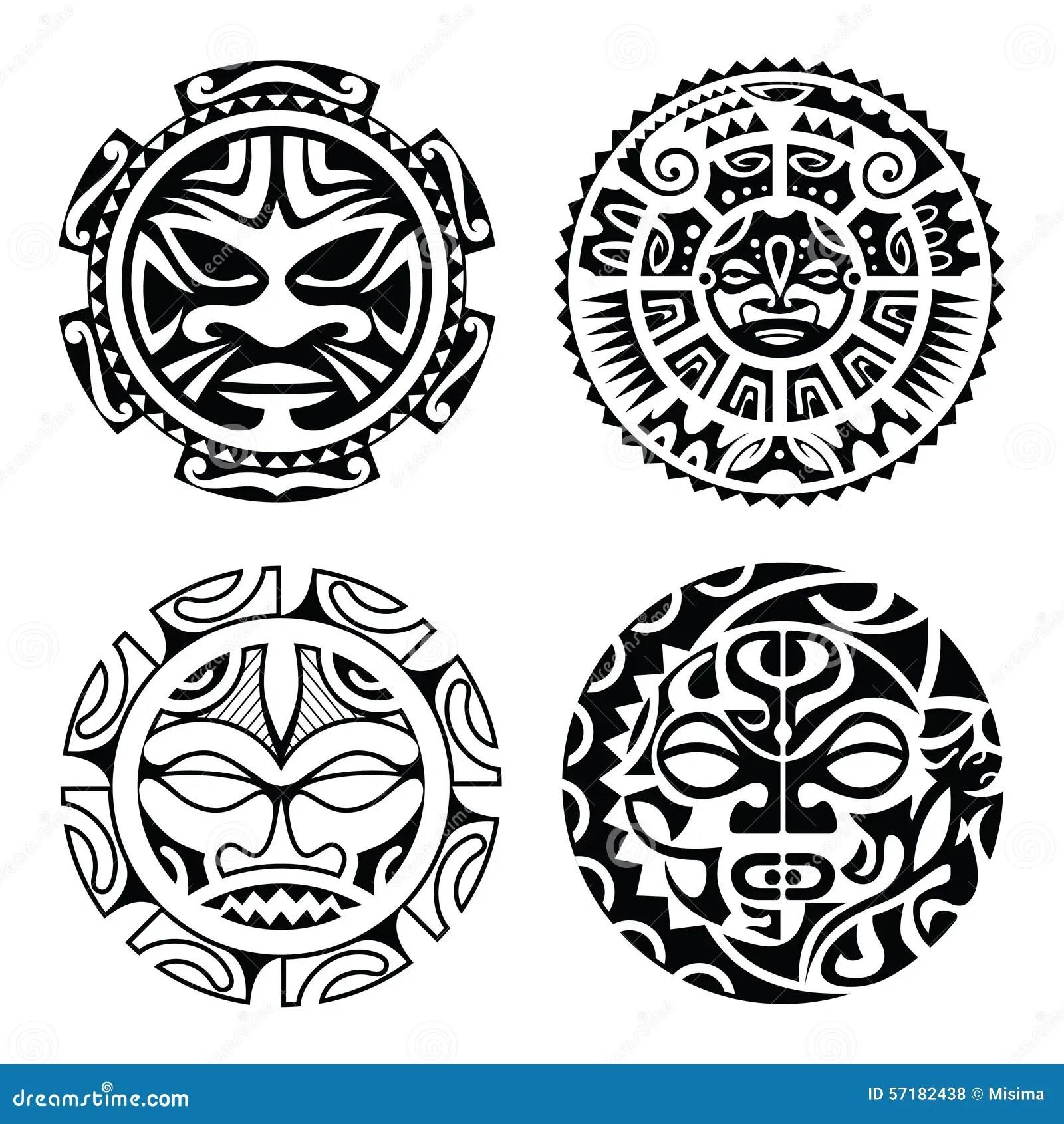 Set Of Polynesian Tattoo Vector Illustration