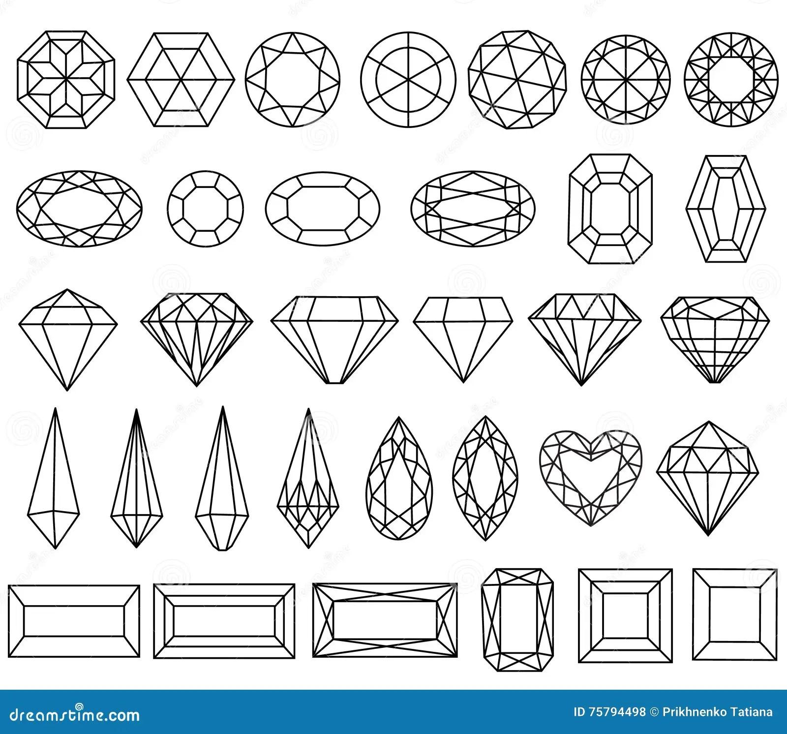 Gemstone Line Art