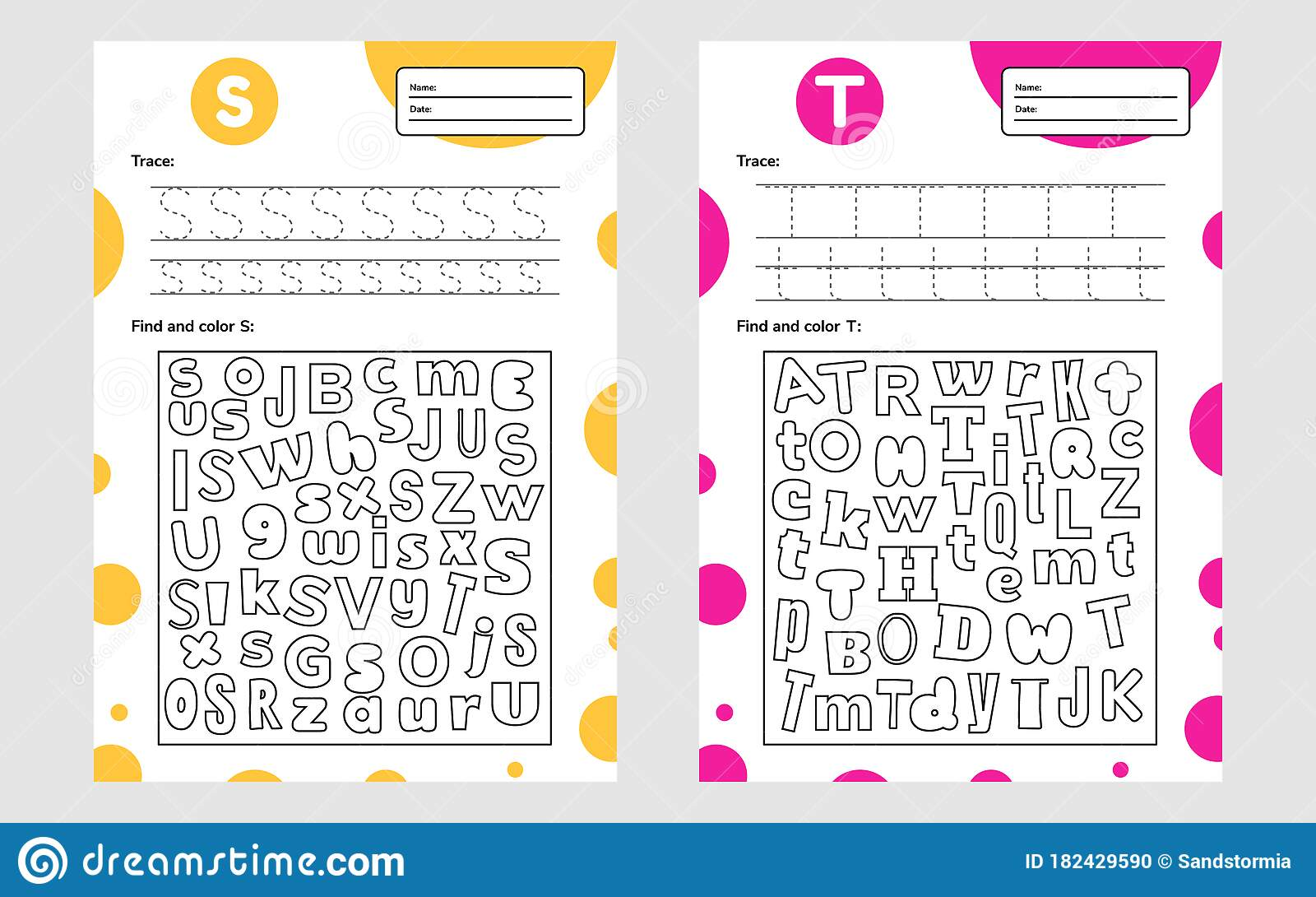 Set Race Letter Worksheet A4 For Kids Preschool And School