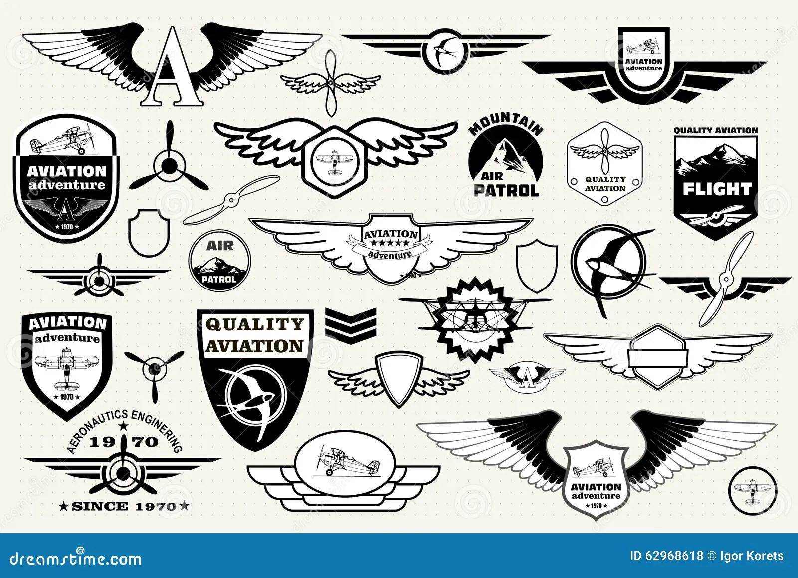 Set Retro Emblems Design Elements Badges And Logo