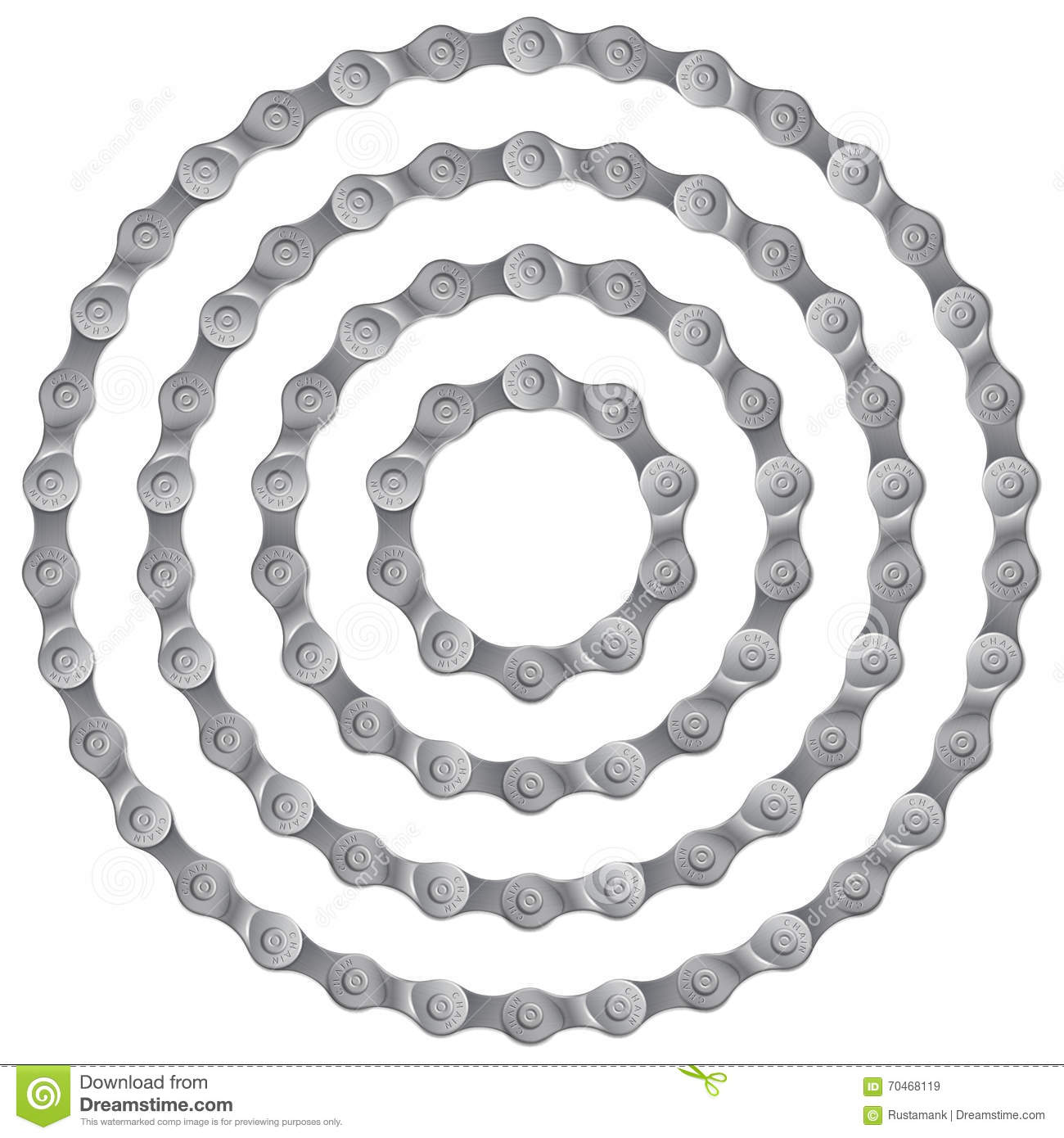 Bicycle Parts Isolated On White Background Cartoon Vector