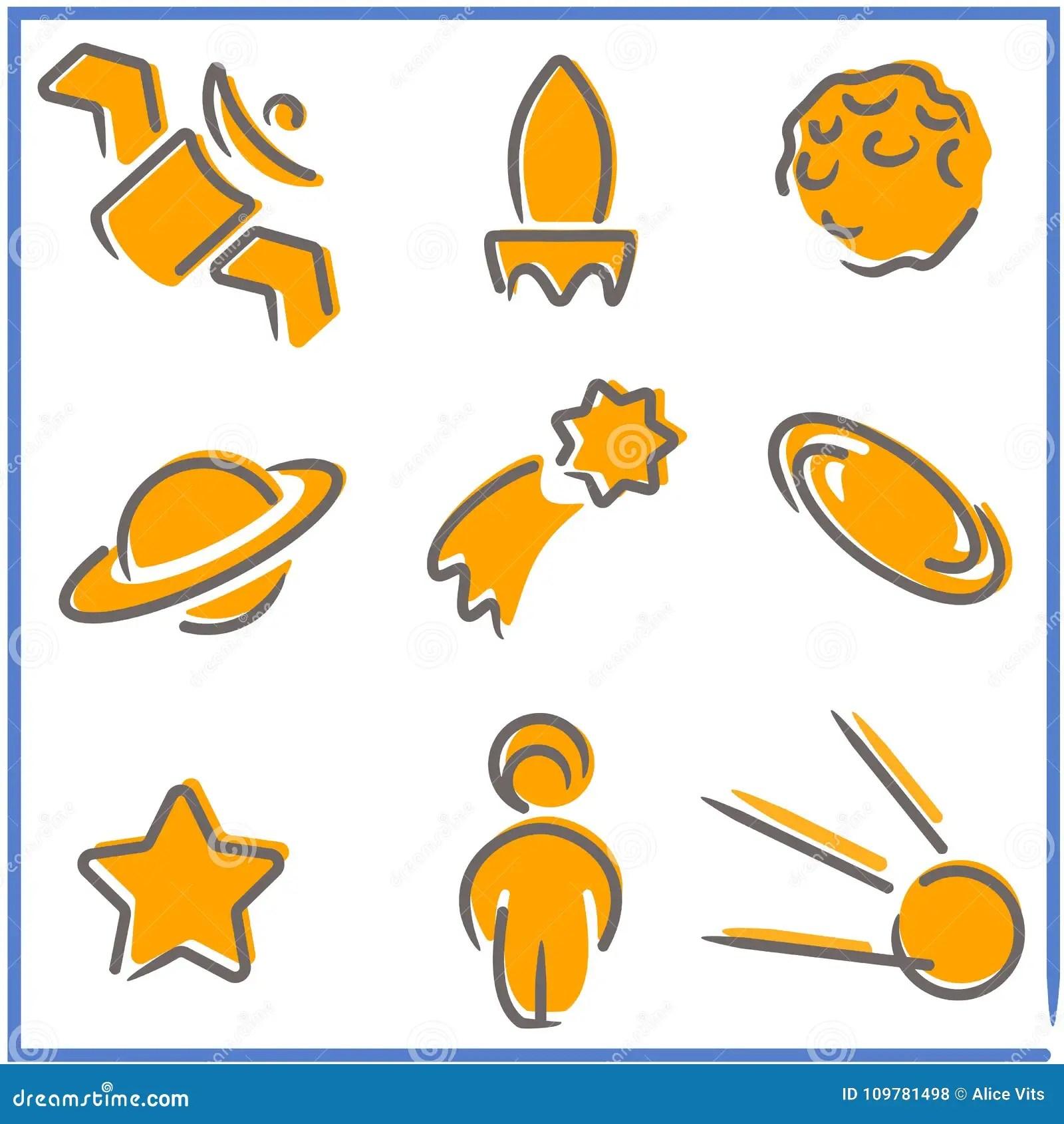 Easy Saturn Maze Vector Illustration