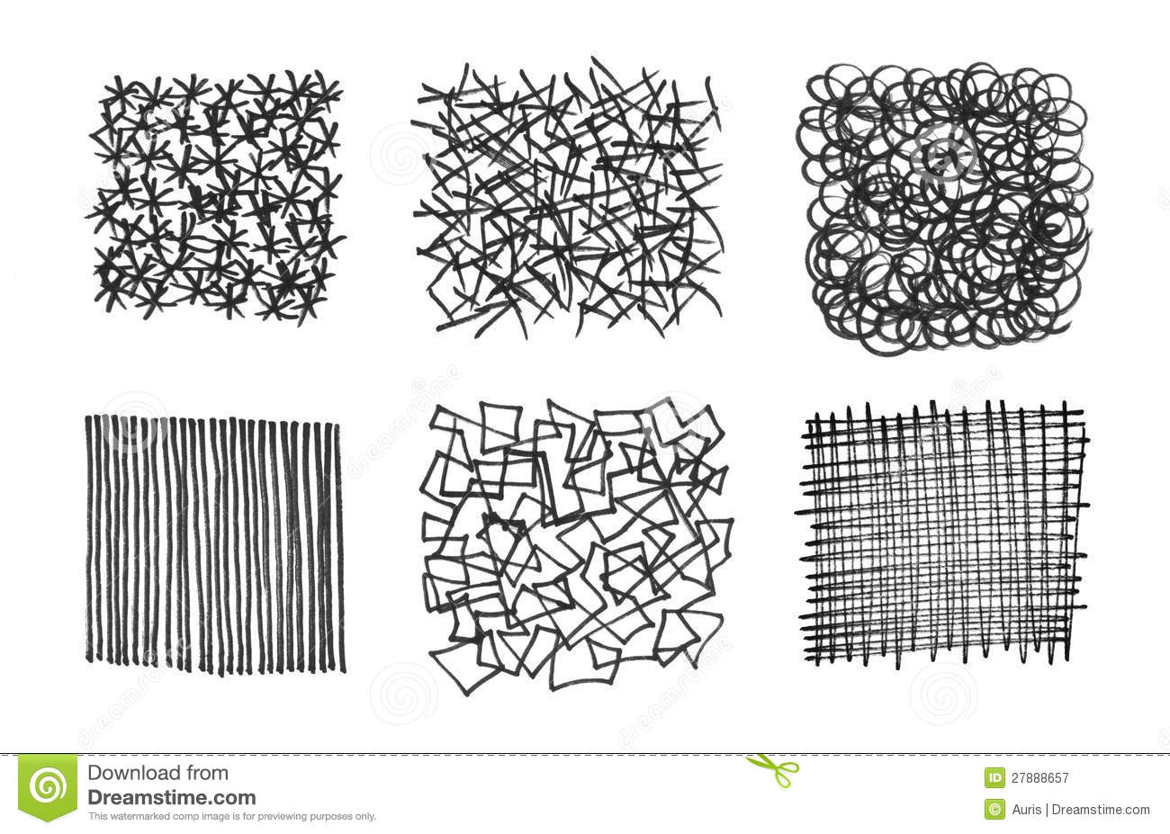 Set Of Stroked Textures Royalty Free Stock Photography