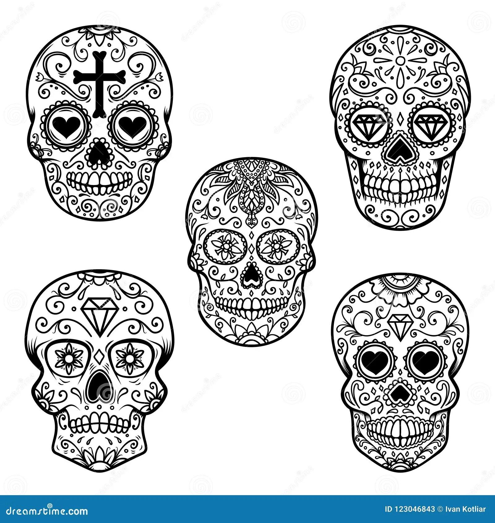 Art Skull Dance Day Of The Dead Festival Stock Image