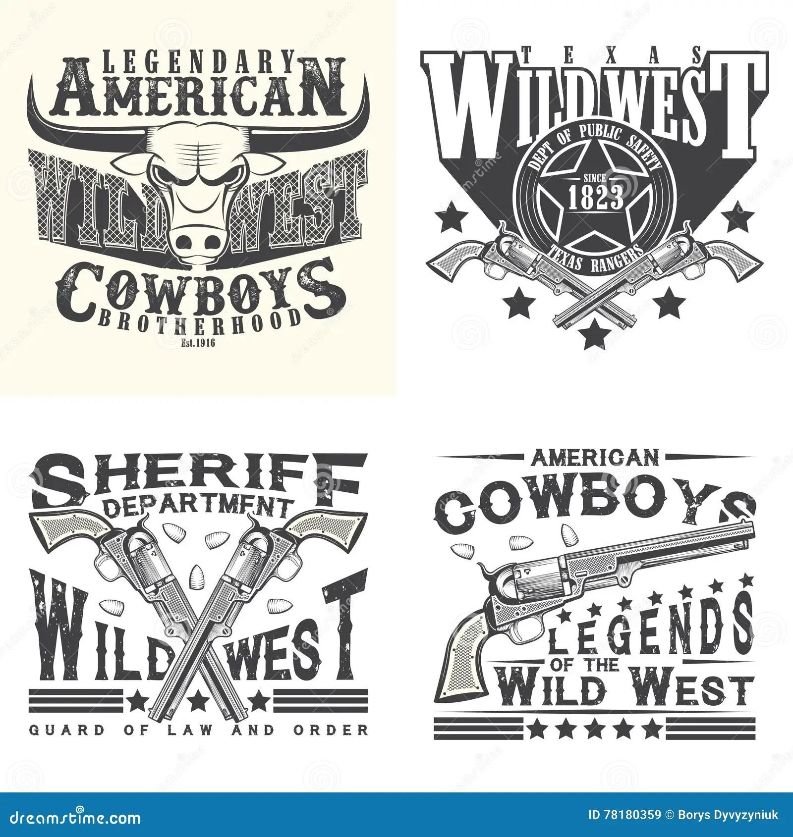 Set Of Tee Shirt Print Designs Stock Vector