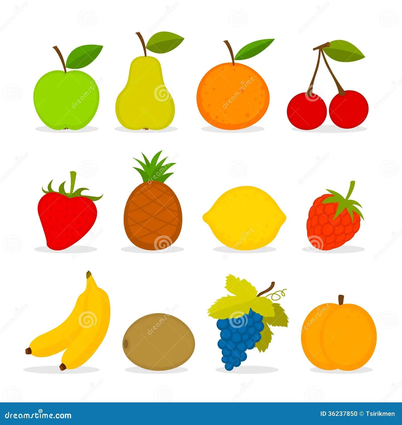 Set Of Vector Fruit Stock Photo