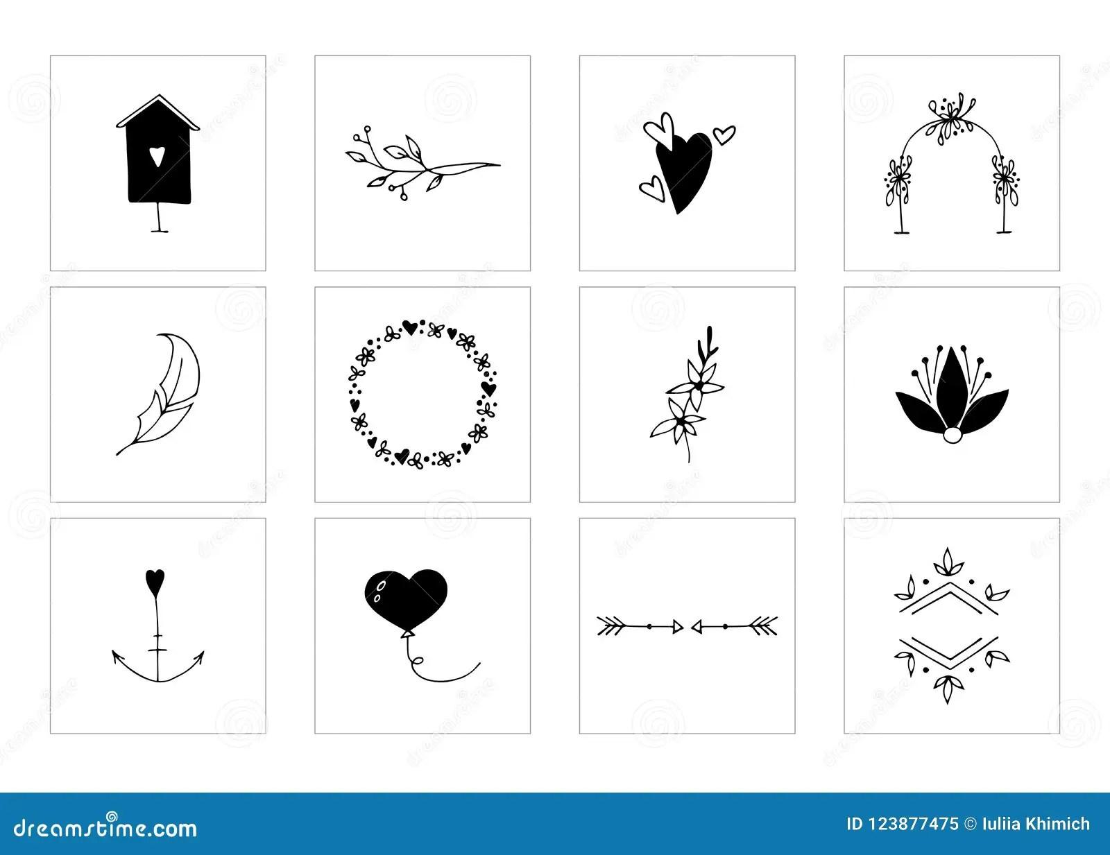 Romantic And Wedding Clipart Feminine Logo Elements