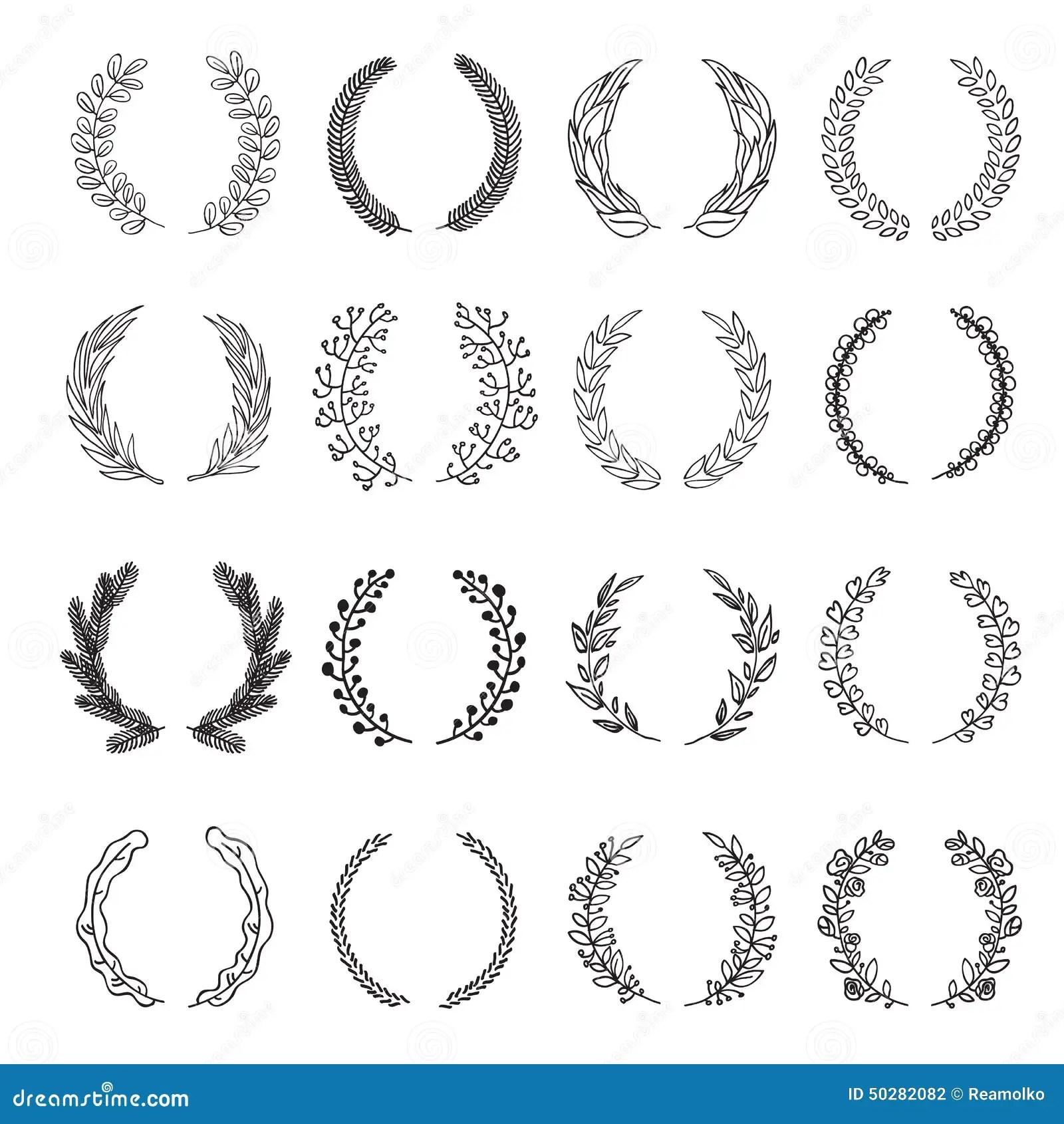 Set Of Vector Laurel Wreaths Stock Vector