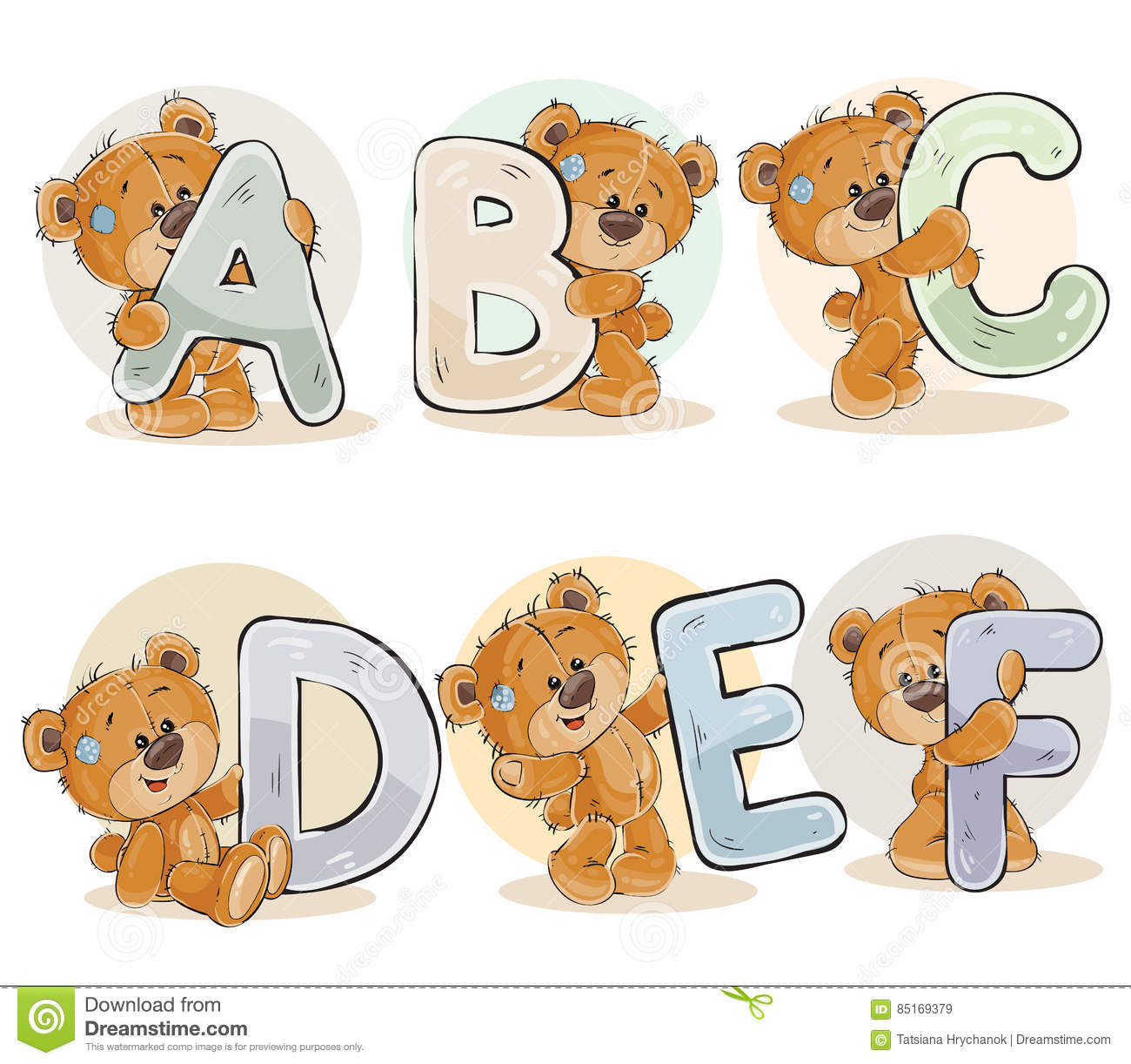 Set Vector Letters Of The English Alphabet With Funny