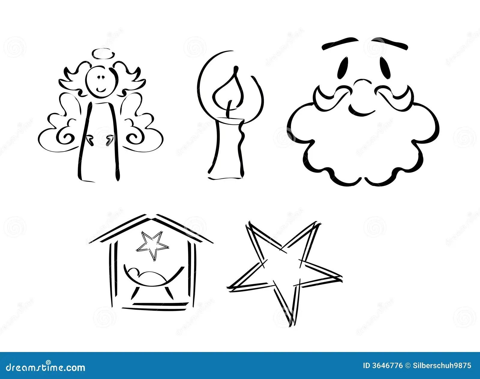 Set Weihnachtssymbole Lizenzfreies Stockbild