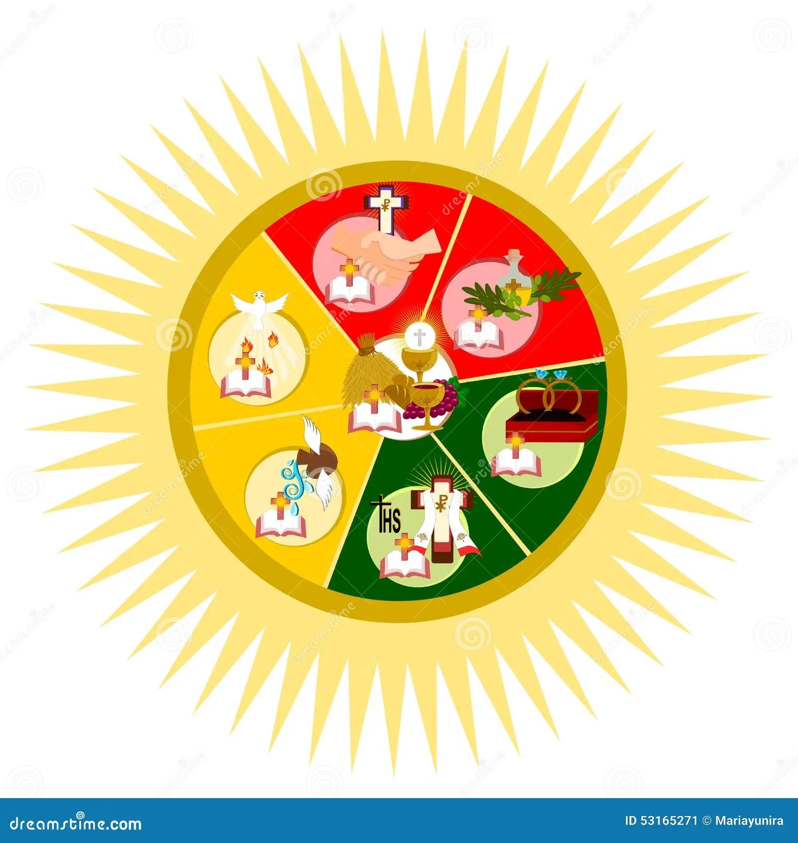 The Seven Sacraments Stock Illustration Illustration Of