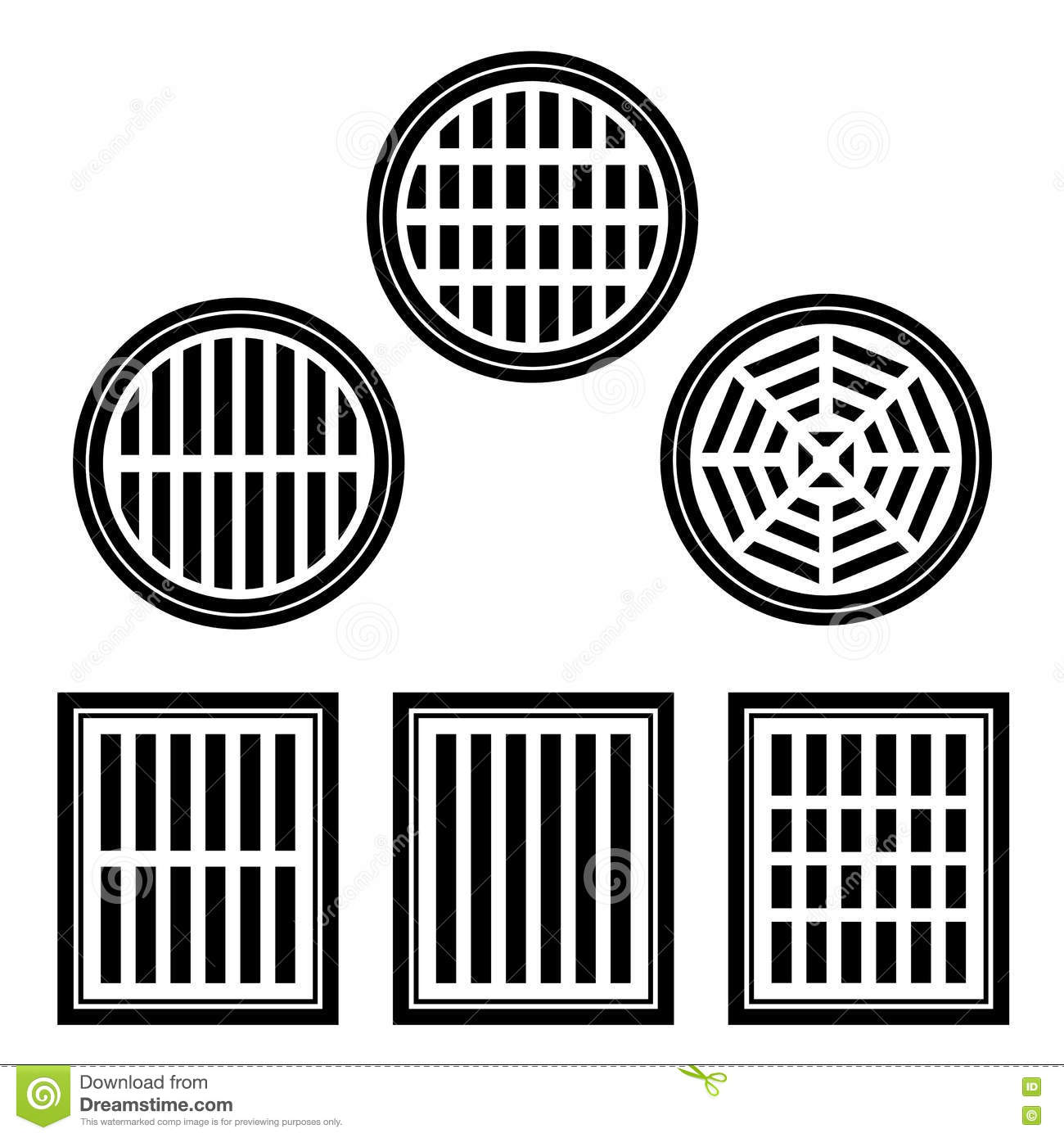 Sewer Cover Black Symbol Stock Vector