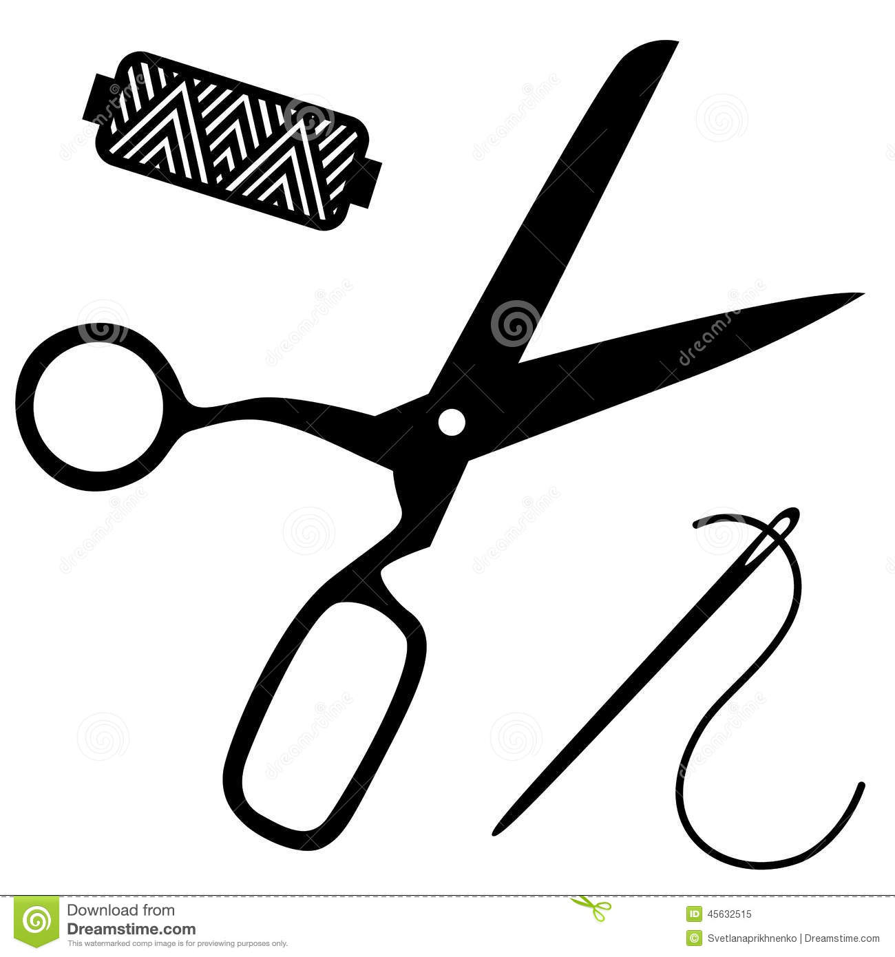 Sewing Kit Stock Vector Illustration Of Needle Tailoring