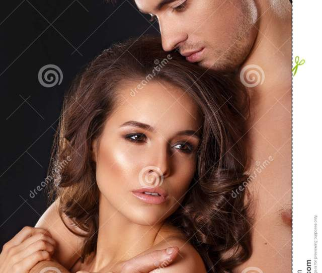 Sensual Brunette Woman In Underwear With Young Lover Passionate Couple Foreplay Closeu Royalty Free Stock Photography Cartoondealer Com