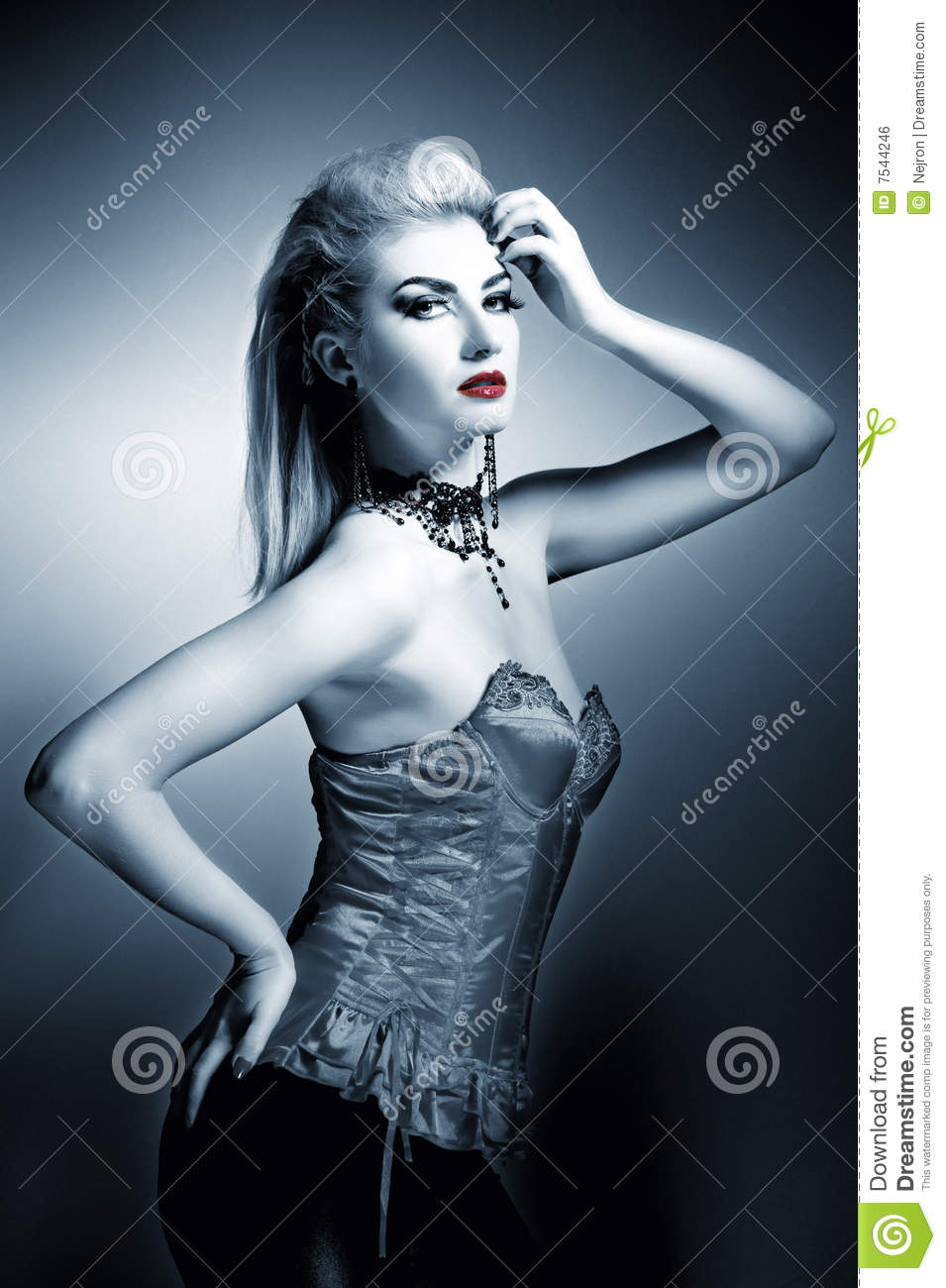 Gothic Woman Royalty Free Stock Image Image 7544246