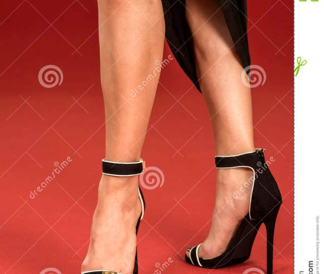 Legs In Fancy High Heels On The Red Carpet