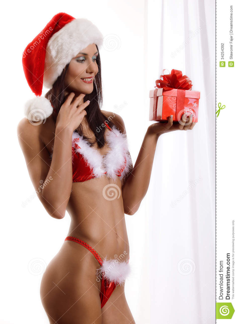 Sexy Young Santa Girl Stock Photography Image 34254392