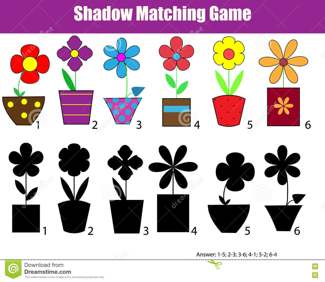 Shadow Matching Children Educational Game Kids Activity