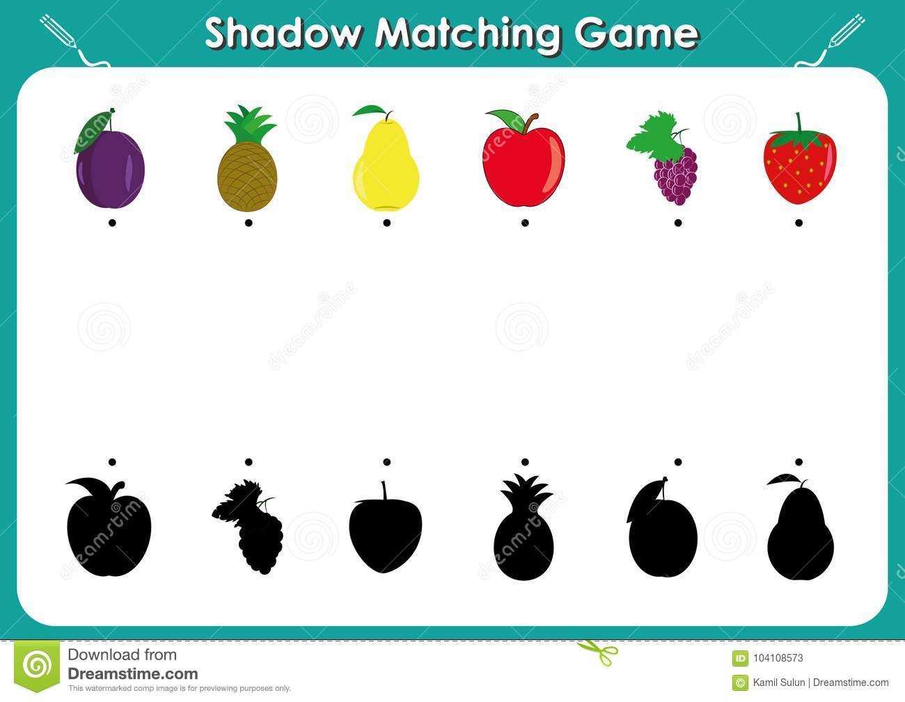 Preschool Worksheet About Shadows