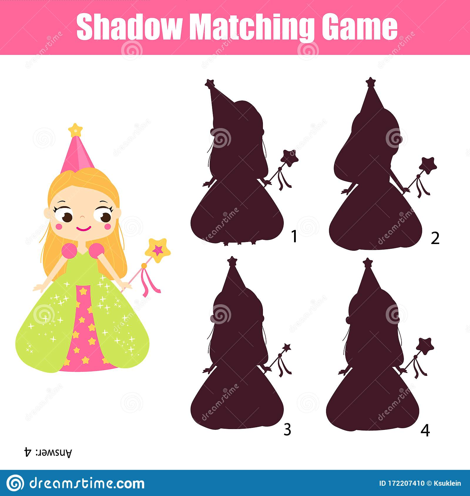 Shadow Matching Game Find Silhouette Of Princess